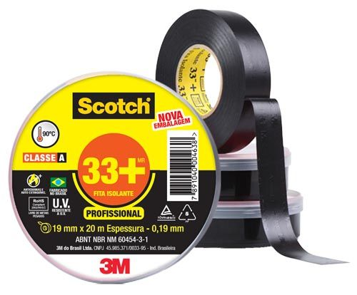 FITA ISOLANTE 3M SCOTCH 33+ / 19mmx10m